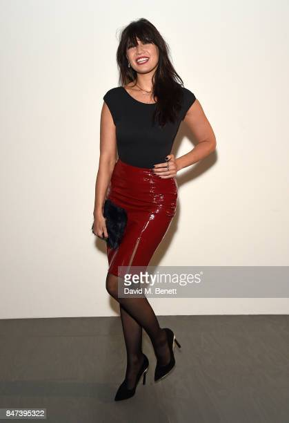 Daisy Lowe attends the Eudon Choi show during London Fashion Week September 2017 at BFC Show Space on September 15 2017 in London England