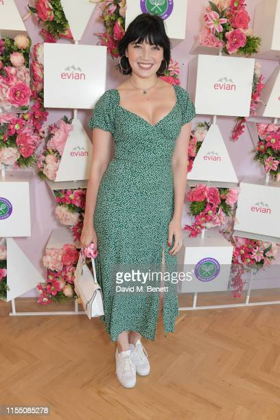 Daisy Lowe attends the evian Live Young suite at The Championships, Wimbledon 2019 on July 11, 2019 in London, England.