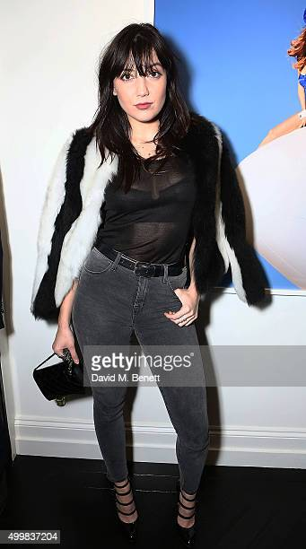Daisy Lowe attends the grand opening of Maddox Gallery on December 3 2015 in London England