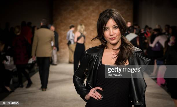 Daisy Lowe attends the House of Holland show during London Fashion Week Fall/Winter 2013/14 at Brewer Street Car Park on February 16, 2013 in London,...