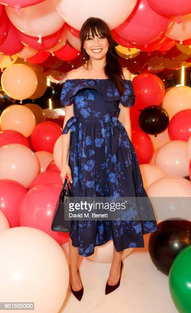 Daisy Lowe attends the kate spade new york pop-up party on April 26, 2018 in London, England.