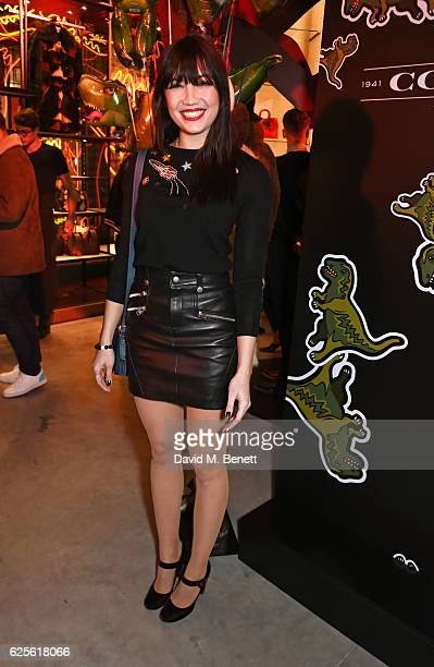 Daisy Lowe attends the launch of Coach House Regent Street on November 24 2016 in London England