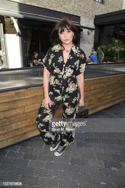 Daisy Lowe attends the launch of Giz Green Pizza Pies PopUp at Passo on July 17 2020 in London England
