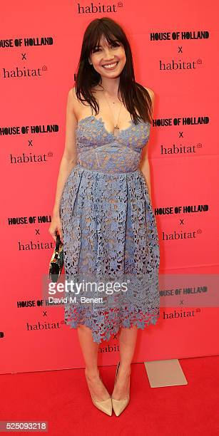 Daisy Lowe attends the launch of House of Holland's first interior collection with Habitat at Habitat Tottenham Court Road on April 27 2016 in London...