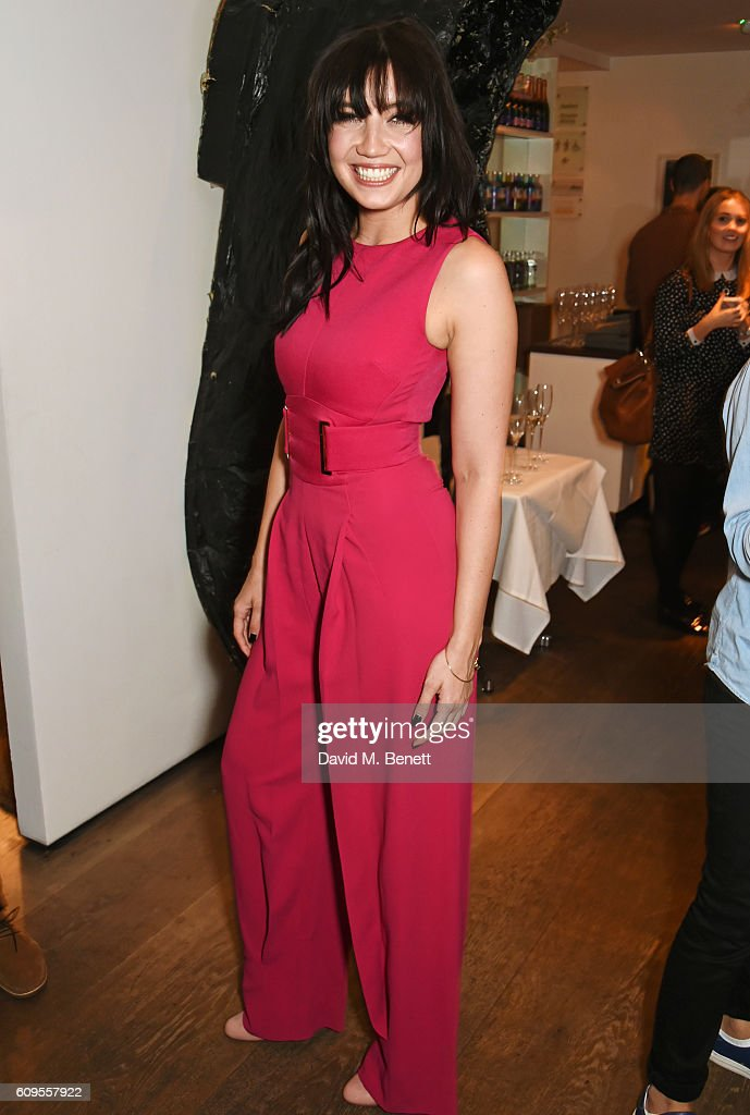 Daisy Lowe attends the launch of London Fashion Weekend in association with the British Fashion Council at Gallery Mess, Saatchi Gallery on September 21, 2016 in London, England.
