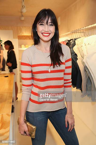 Daisy Lowe attends the launch of the first UK Velvet by Graham and Spencer store at St Christopher's Place on April 28 2016 in London United Kingdom