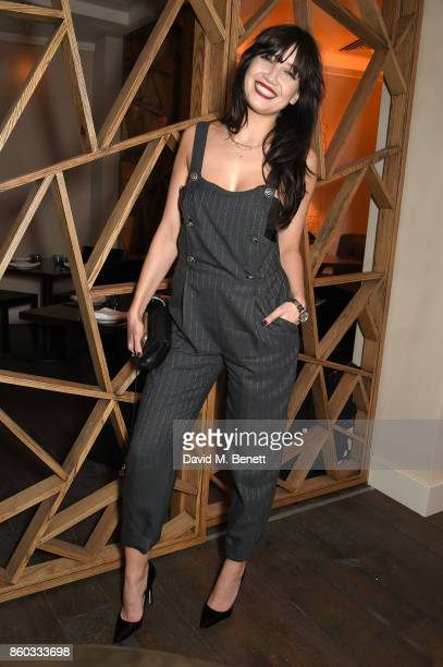 Daisy Lowe attends the launch of The Great Eight Guacamoles London's first Guacamoles and Tequila Bar at Cantina Laredo on October 11 2017 in London...