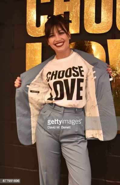 Daisy Lowe attends the launch of the Help Refugees 'Choose Love' popup shop on November 23 2017 in London England