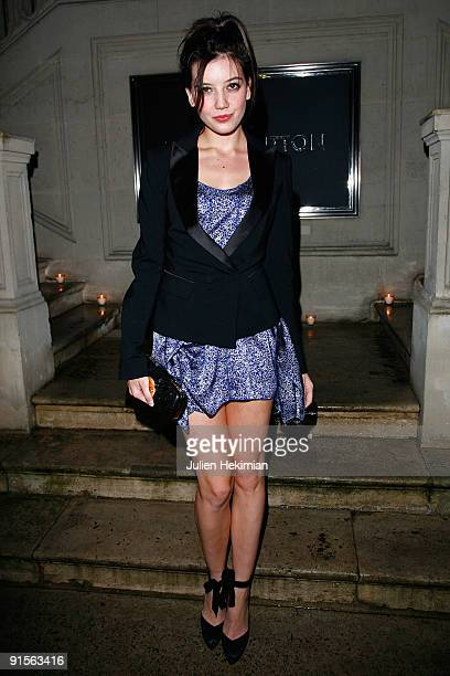 Daisy Lowe attends the Louis Vuitton party on October 7, 2009 in Paris, France.