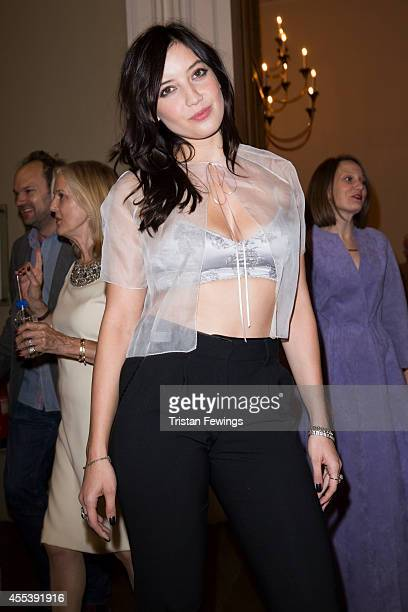 Daisy Lowe attends the Marchesa show during London Fashion Week Spring Summer 2015 at on September 13 2014 in London England