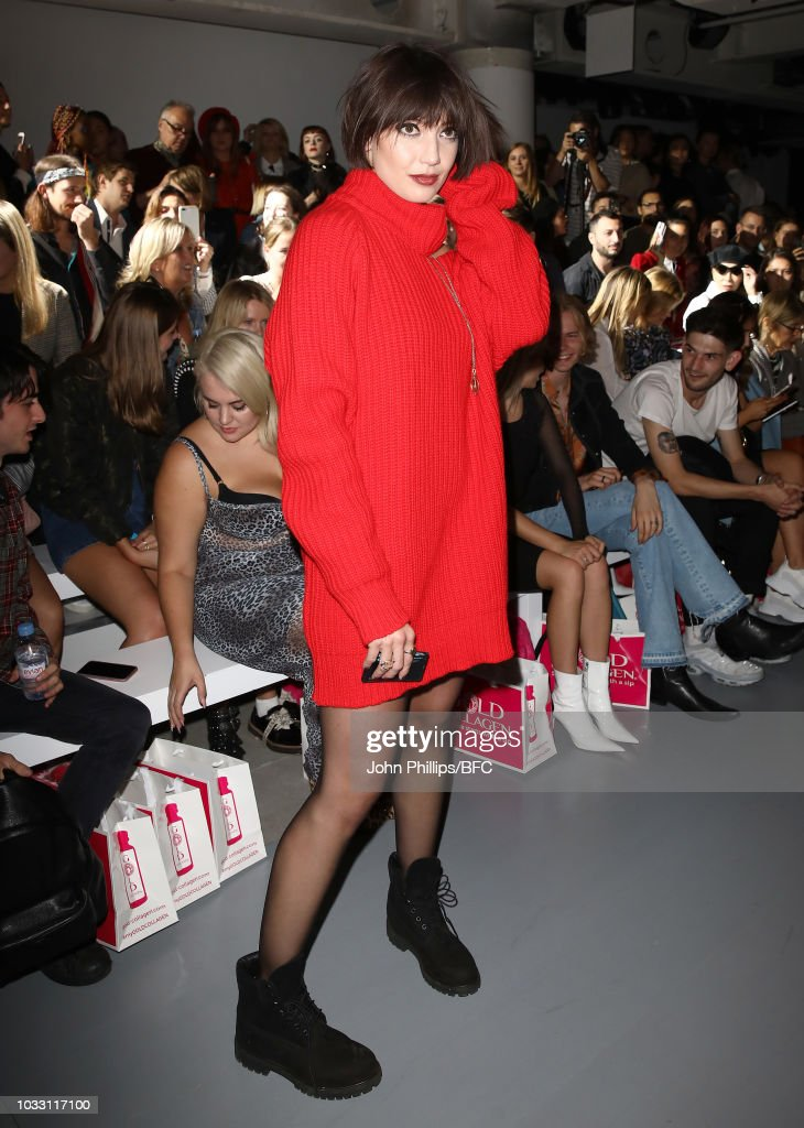 Daisy Lowe attends the Marta Jakubowski Show during London Fashion Week September 2018 at The BFC Show Space on September 14, 2018 in London, England.