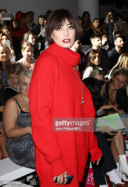 Daisy Lowe attends the Marta Jakubowski Show during London Fashion Week September 2018 at The BFC Show Space on September 14 2018 in London England