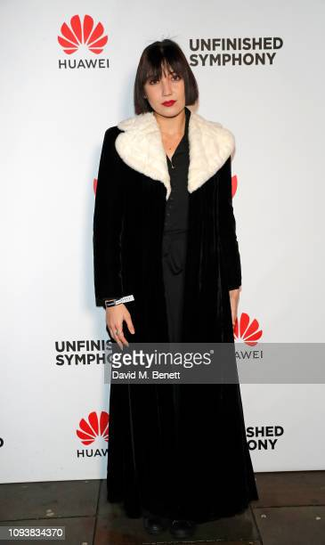 Daisy Lowe attends the reveal of Huawei's, Unfinished Symphony at Cadogan Hall on February 4, 2019 in London, England.