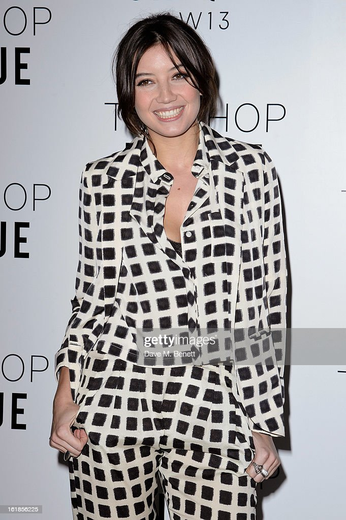 Daisy Lowe attends the Topshop Unique Autumn/ Winter 2013 catwalk show at the Topshop Show Space on February 17, 2013 in London, England.