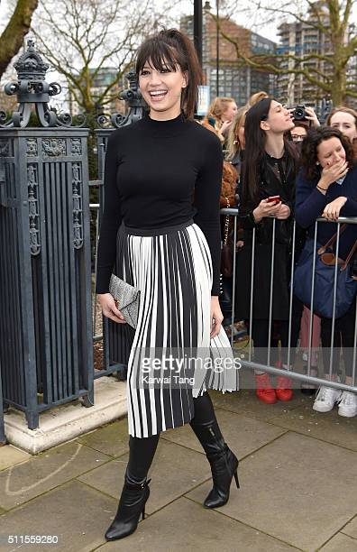 Daisy Lowe attends the Topshop Unique show during London Fashion Week Autumn/Winter 2016/17 at Tate Britain on February 21 2016 in London England