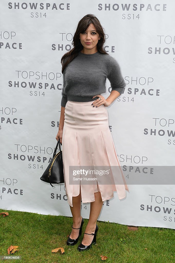 Daisy Lowe attends the Unique show during London Fashion Week SS14 at TopShop Show Space on September 15, 2013 in London, England.