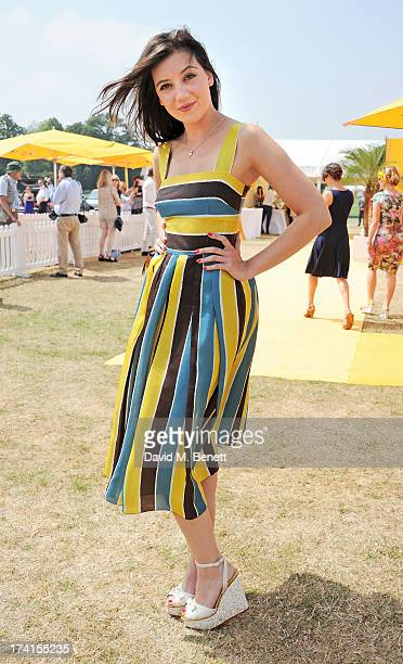 Daisy Lowe attends the Veuve Clicquot Gold Cup Final at Cowdray Park Polo Club on July 21 2013 in Midhurst England