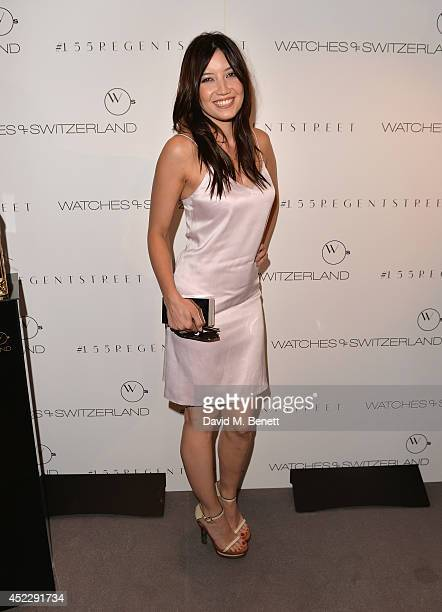 Daisy Lowe attends the Watches Of Switzerland flagship showroom launch on July 17 2014 in London England