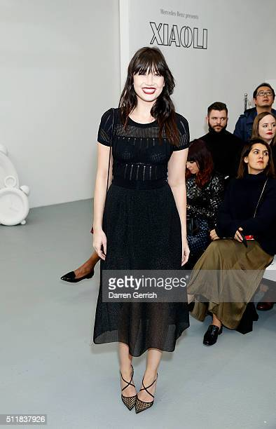 Daisy Lowe attends the Xiao Li AW 2016 Collections show presented by MercedesBenz at Brewer Street Car Park on February 23 2016 in London England