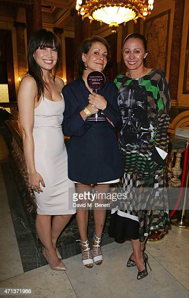 Daisy Lowe Charlotte Stockdale winner of the Creative Vision award and Caroline Rush attend the LDNY show and WIE Award gala sponsored by Maserati at...