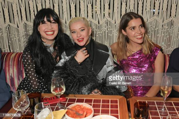 Daisy Lowe Christina Aguilera and guest attend the LOVE YouTube LFW party supported by PerrietJouet and hosted by Katie Grand Derek Blasberg at...
