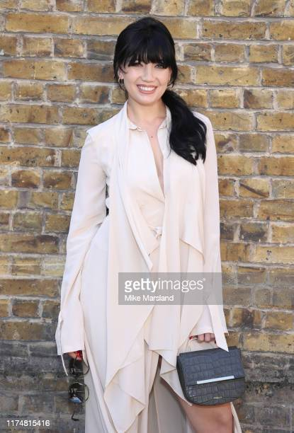 Daisy Lowe during at the Roland Mouret show at London Fashion Week September 2019 on September 15, 2019 in London, England.