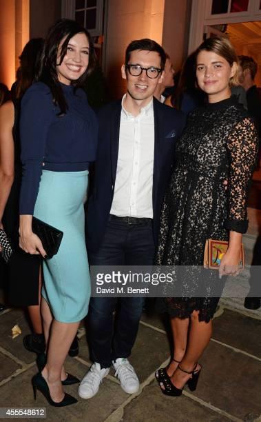 Daisy Lowe Erdem Moralioglu and Pixie Geldof attend as Ambassador Barzun Mrs Brooke Barzun and Alexandra Shulman celebrate London Fashion Week at...