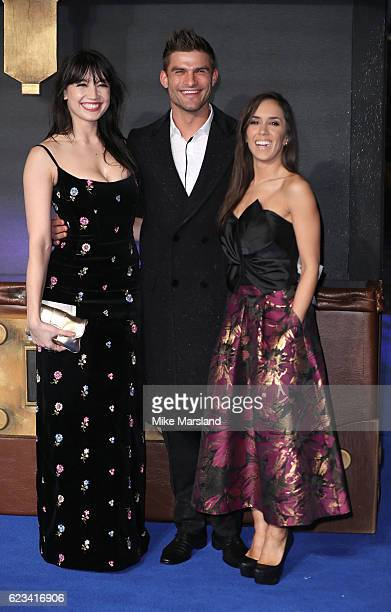 "Daisy Lowe, Janette Manrara and Aljaz Skorjanec attend the European premiere of ""Fantastic Beasts And Where To Find Them"" at Odeon Leicester Square..."