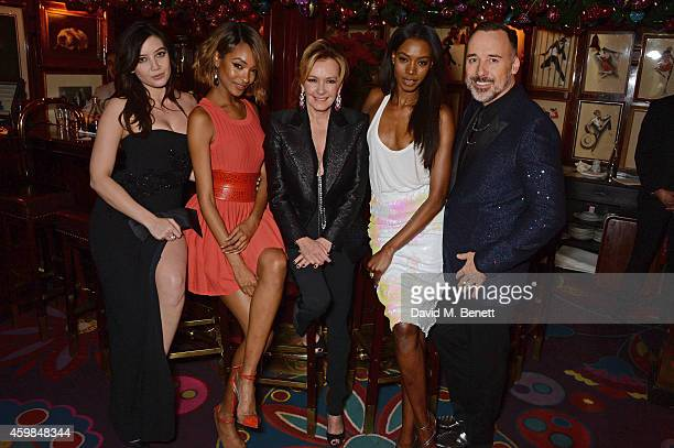 Daisy Lowe Jourdan Dunn Caroline Scheufele Artistic Director and CoPresident of Chopard Sigail Currie and David Furnish attend the Chopard Christmas...