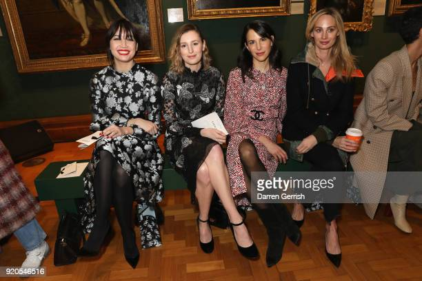 Daisy Lowe, Laura Carmichael, Caroline Sieber and Lauren Santo Domingo attend the ERDEM show during London Fashion Week February 2018 on February 19,...