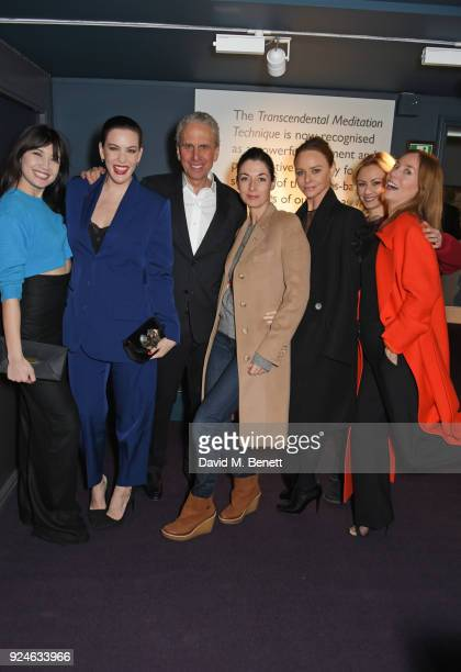 Daisy Lowe Liv Tyler Bob Roth Mary McCartney Stella McCartney Camilla alFayed and Lucie de la Falaise attend the launch of Bob Roth's 'Strength in...