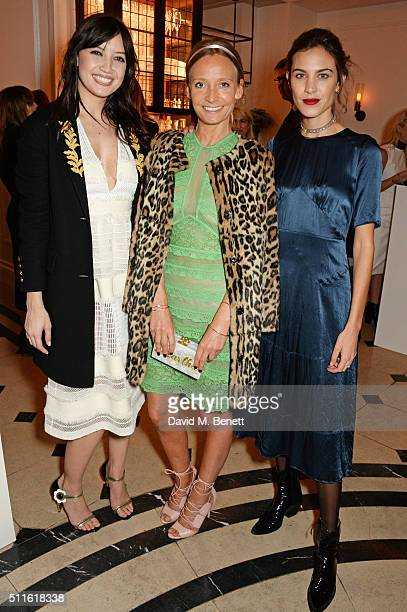 Daisy Lowe Martha Ward and Alexa Chung attend as mytheresacom and Burberry celebrate the new MYT Woman at Thomas's on February 21 2016 in London...