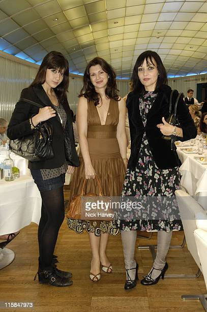 Daisy Lowe Monica Botkier and Pearl Lowe during Monica Botkier Celebrates the Launch of her New Handbag Collection at Harvey Nichols in London Great...