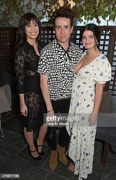 Daisy Lowe Nick Grimshaw and Pixie Geldof attend a private dinner celebrating the launch of the Nick Grimshaw for TOPMAN collection at Odette's...