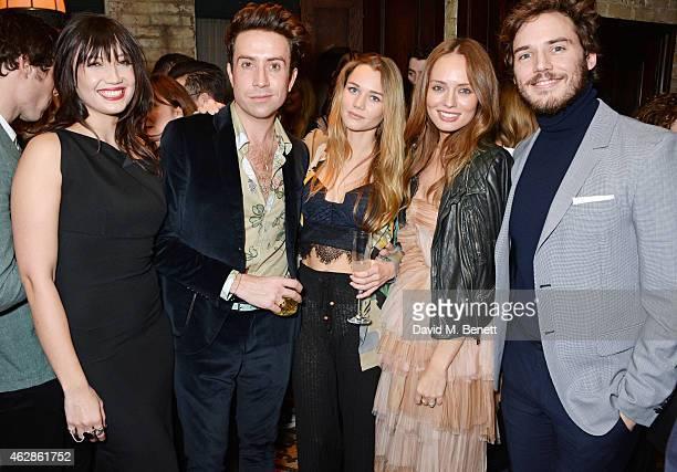 Daisy Lowe Nick Grimshaw Immy Waterhouse Laura Haddock and Sam Claflin attend Harvey Weinstein's BAFTA Dinner in partnership with Burberry GREY GOOSE...