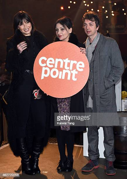 Daisy Lowe Pearl Lowe and Danny Goffey attend the Centrepoint Ultimate Pub Quiz at Village Underground on February 3 2015 in London England