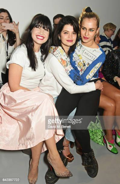 Daisy Lowe Pixie Geldof and Alice Dellal attend the Ashley Williams show during the London Fashion Week February 2017 collections on February 17 2017...
