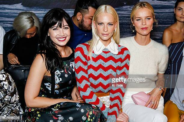 Daisy Lowe Poppy Delevigne and Eva Herzigova attend the Erdem show during London Fashion Week Spring/Summer collections 2017 on September 19 2016 in...