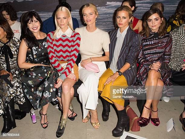 Daisy Lowe Poppy Delevingne Eva Herzigova Laura Bailey and Jenna Coleman attend the Erdem show during London Week Spring/Summer collections 2016/2017...