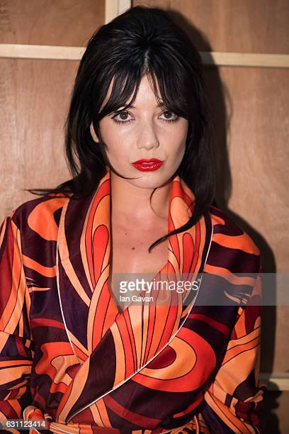 Daisy Lowe poses backstage ahead of the Katie Eary show during London Fashion Week Men's January 2017 collections at BFC Show Space on January 7 2017...