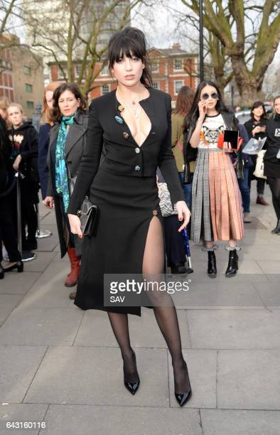 Daisy Lowe seen at Christopher Kane at Tate Britain on Day 4 of London Fashion Week February 2017 on February 20 2017 in London England