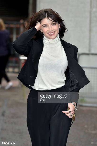Daisy Lowe seen at the ITV Studios on October 11 2017 in London England