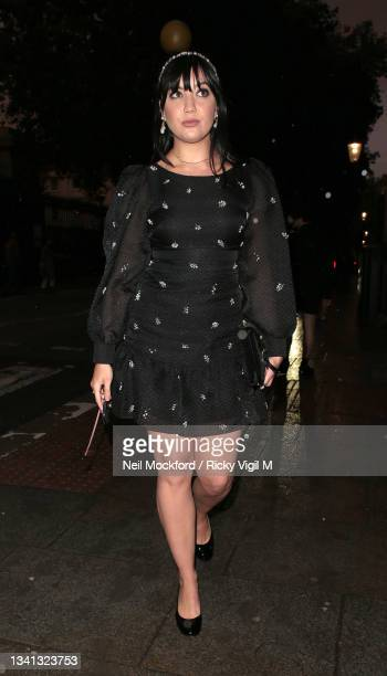 Daisy Lowe seen attending Erdem at The British Museum during London Fashion Week September 2021 on September 19, 2021 in London, England.