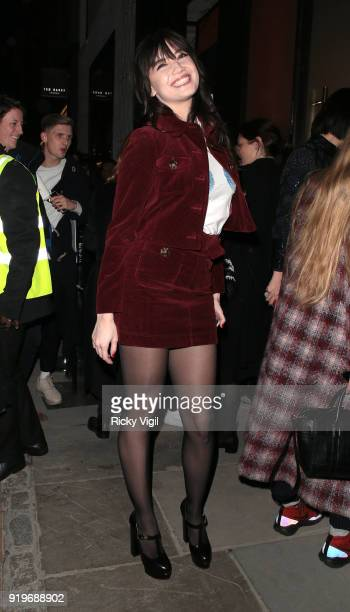 Daisy Lowe seen attending the House of Holland catwalk show at Topshop Show Space during LFW February 2018 on February 17 2018 in London England