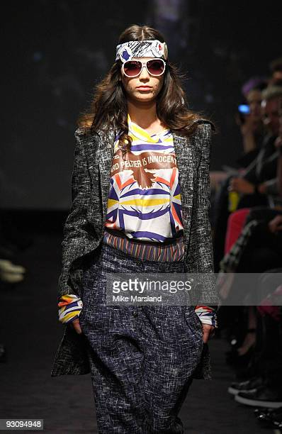 Daisy Lowe walks down the runway at the Anglomania show by Vivienne Westwood at Selfridges on November 16 2009 in London England