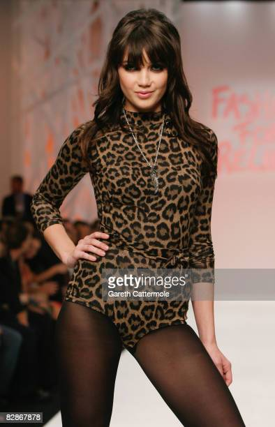 Daisy Lowe walks the runway at the Fashion For Relief show during London Fashion Week Spring/Summer 2009 on September 17, 2008 in London, England....