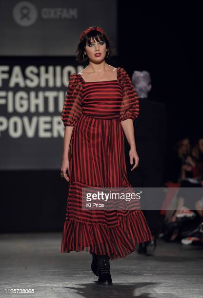 Daisy Lowe walks the runway at the Oxfam Fashion Fighting Poverty Catwalk Show at Ambika P3 on February 18, 2019 in London, England.