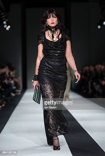 Daisy Lowe walks the runway at the Vivienne Westwood Red Label show during London Fashion Week Fall/Winter 2015/16 at Science Museum on February 22...