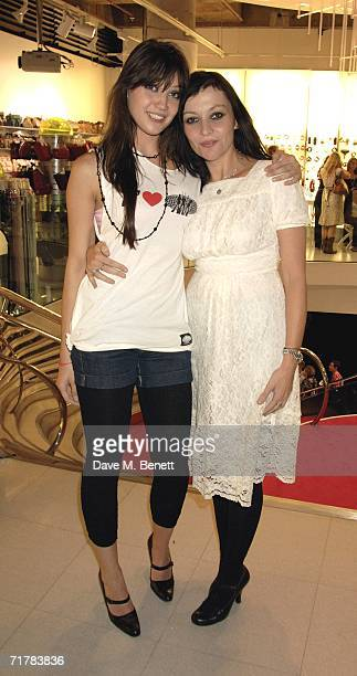 Daisy Lowe with her mother Pearl Lowe attend the New Look Party to Launch More Shoes at the New Look store Oxford Street on September 4 2006 in...