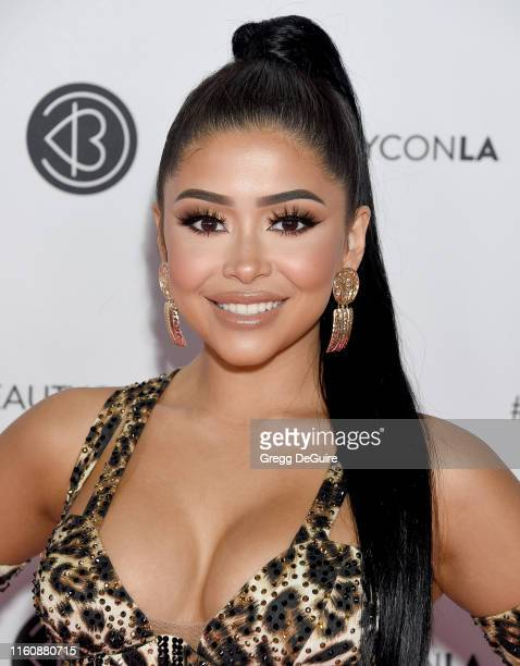 Daisy Marquez attends Beautycon Los Angeles 2019 Pink Carpet at Los Angeles Convention Center on August 10 2019 in Los Angeles California